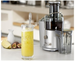Breville Juice Fountain with delicious juice