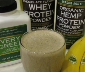 Green Banana Chocolate Smoothie