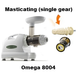 Omega 8004 Juicer - Masticating Single Gear